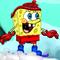 Spongebob Snowboarding