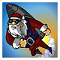 Rocket Santa Icon
