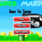 Super Mario Shoot The Cannon Screenshot