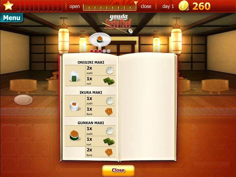 Flash игра Youda Суши шеф скриншот 2.