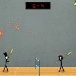 Stick Figure Badminton 3 Screenshot