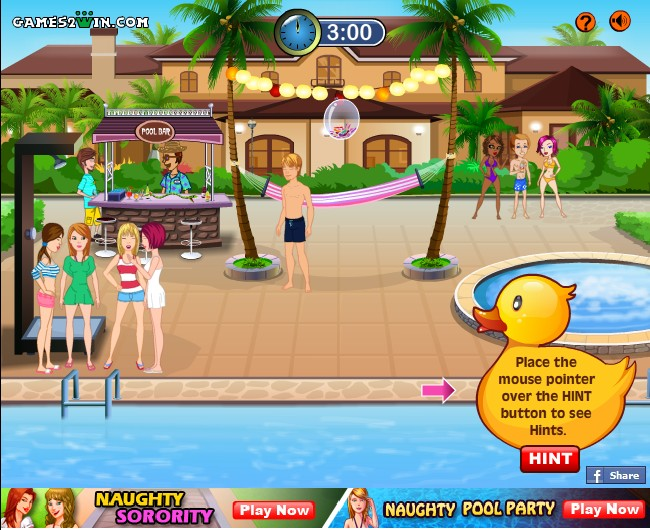 naughty games pool party gameasp