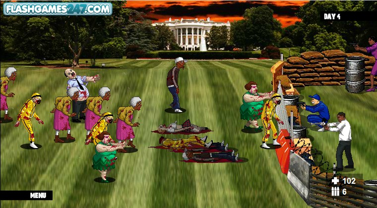 Obama Vs Zombies Unblocked Games