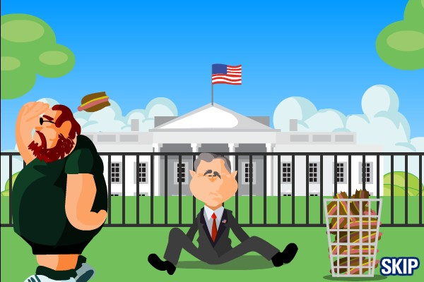 george bush hotdog game