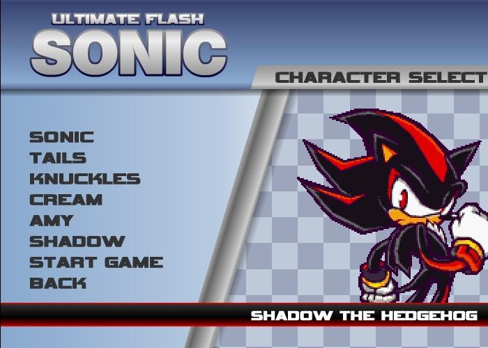 flash sonic games