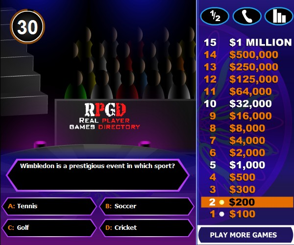 play millionaire game online