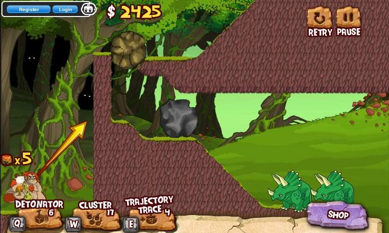 Caveman And Dinosaurs : Cavemen vs dinosaurs coconut boom hacked cheats free