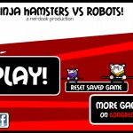 Ninja Hamsters vs Robots Screenshot