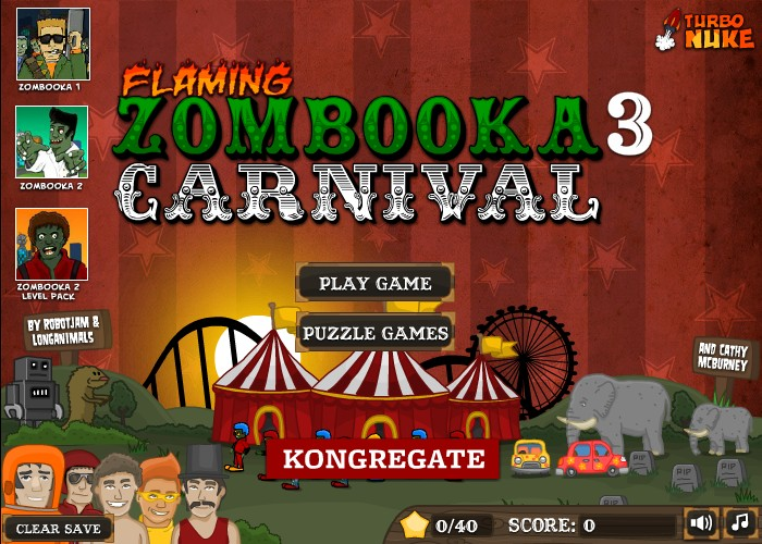 flaming zombooka 3 carnival hacked cheats hacked free