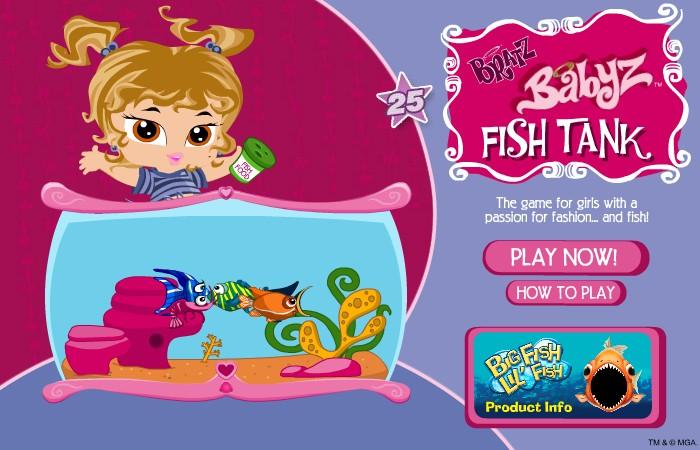 Bratz fish tank hacked cheats hacked free games for Fish breeding games
