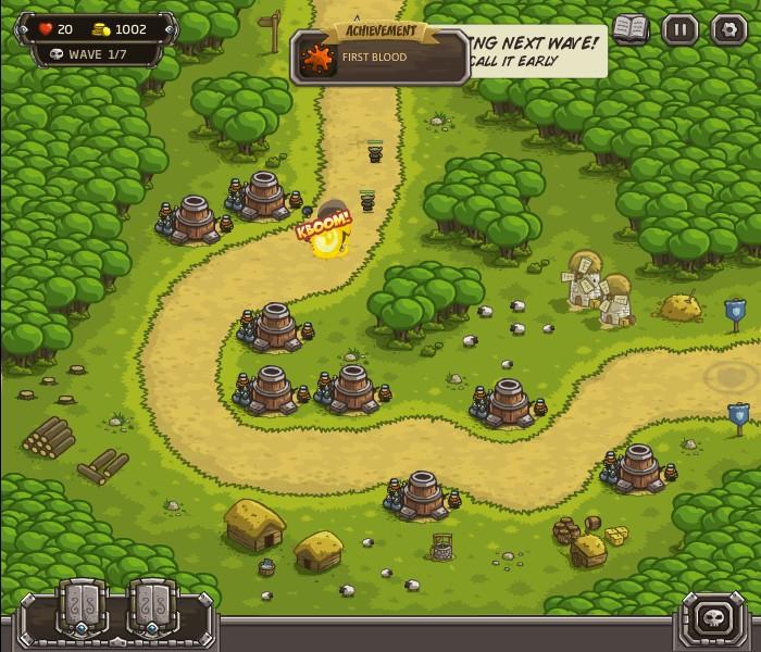 Флеш игра онлайн Kingdom Rush 1.082. nowrap Комендант/nowrap. nowrap GamerF