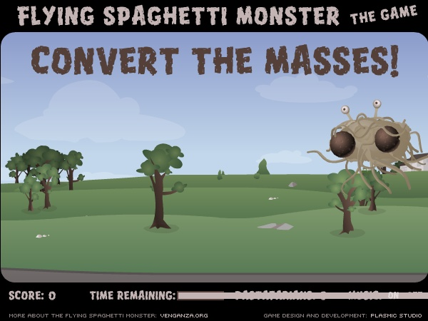flying spaghetti monster game