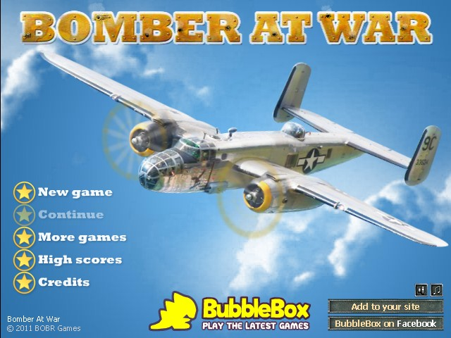 Play Bomber at War - free on Bubblebox.com