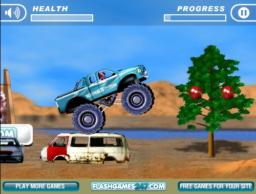 4 Wheel Madness Game - Free Online Monster Truck Games