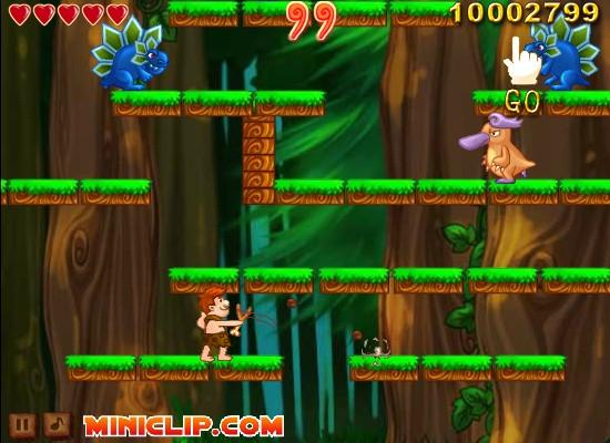 Miniclip Caveman : Caveman hacked cheats free games