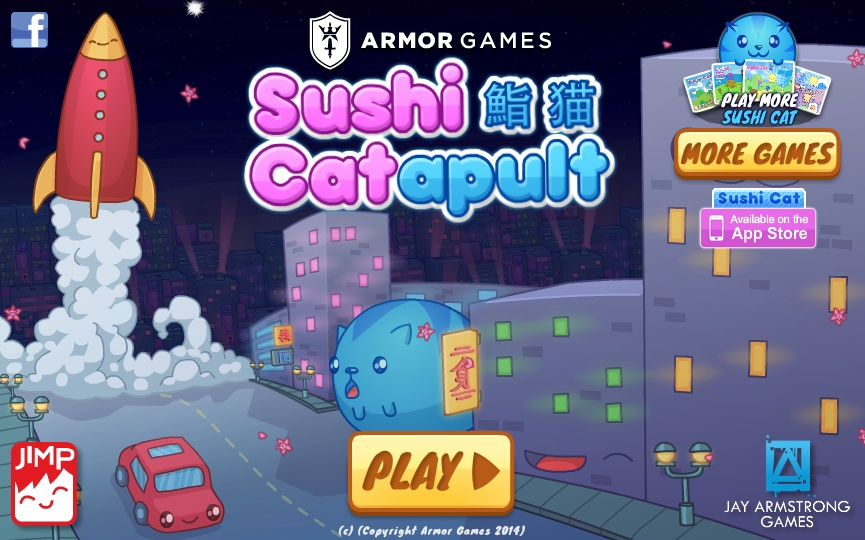 play sushi cat-a-pult