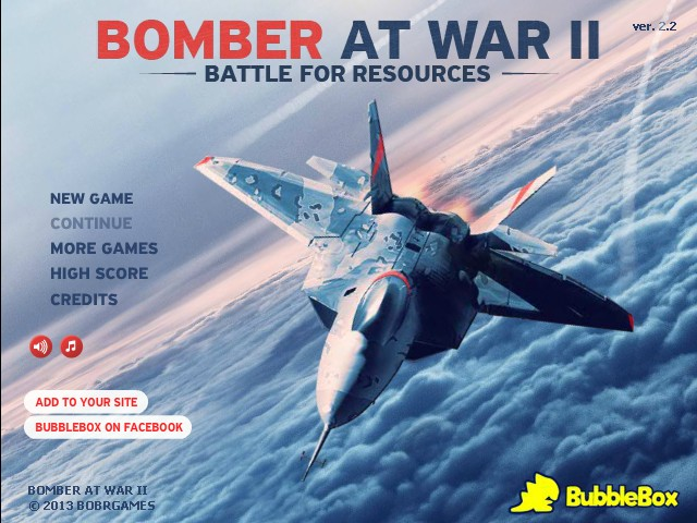Play Bomber at War 2 - free on Bubblebox.com