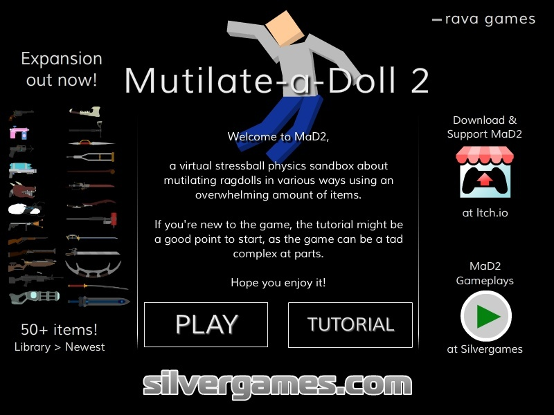 Mutilate a doll 2 hacked cheats hacked free games