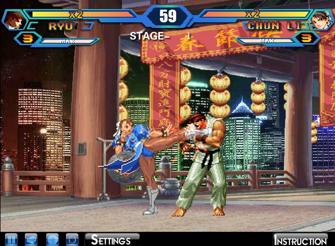 games king of fighter wing hacked