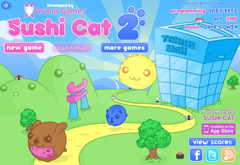 play free online games of sushi cat 2