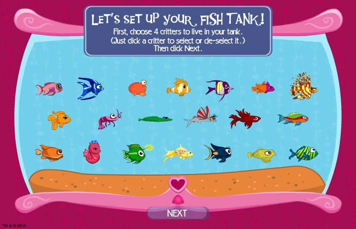 Fish tank games bratz bratz fish tank hacked cheats for Fish tank game