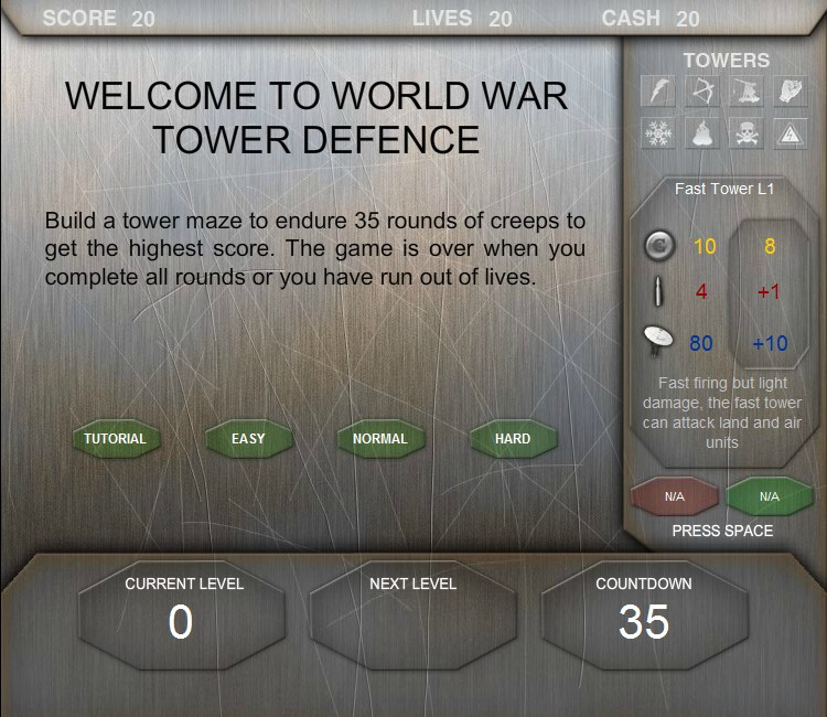 World War Tower Defence Hacked Cheats Free Games