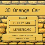 3D Orange Car Screenshot